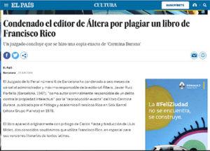 Javier Ruiz Portella condenado por plagio. Foto Diario El País