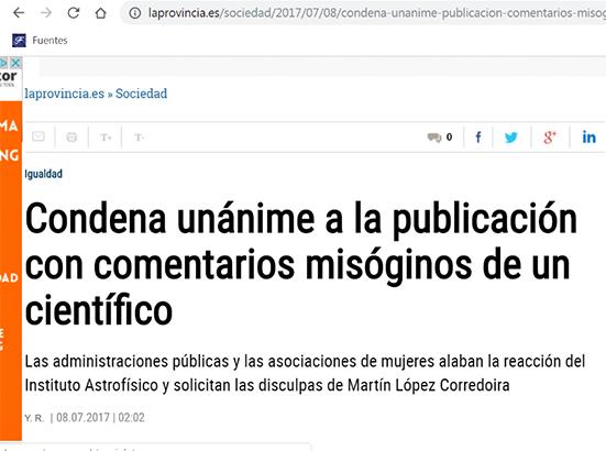 Martín López Corredoira prensa canaria