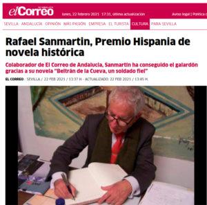 VIII Premio Hispania de novela histórica