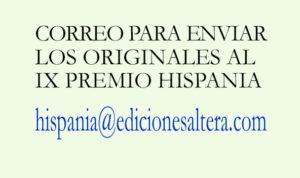Correo IX Premio Hispania de Novela Histórica